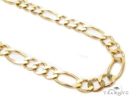 Mens 14k Solid Yellow Gold Figaro Chain 24 Inches 7.9mm 40.46 Grams 47371 Gold