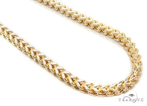 Mens 10k Hollow Yellow Gold Franco Chain 28 Inches 3.6mm 24.07 Grams 47390 Gold