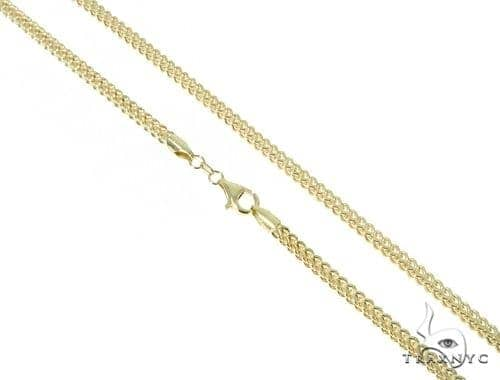 Mens 10k Hollow Yellow Gold Franco Chain 28 Inches 3mm 13.63 Grams 47664 Gold