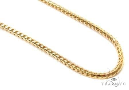 Mens 10k Solid Yellow Gold Franco Chain 28 Inches 1.6mm 9.73 Grams 47739 Gold
