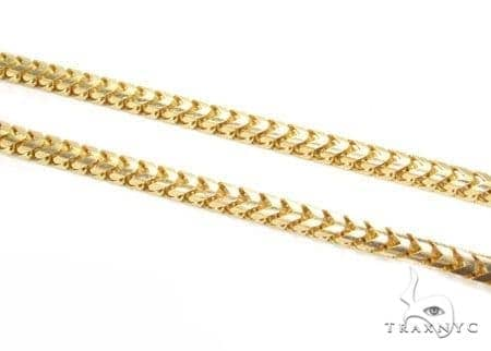 Mens 14k Solid Yellow Gold Franco Chain 34 Inches 4.3mm 102.42 Grams 47883 Gold