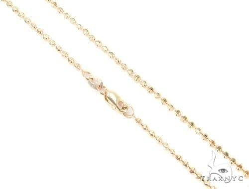 Mens 14k Solid Yellow Gold Moon Cut Chain 20 Inches 2mm 6.43 Grams 48481 Gold