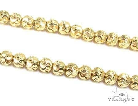 Mens 14k Solid Yellow Gold Moon Cut Chain 22 Inches 4mm 23.00 Grams 48505 Gold