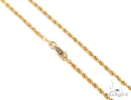 Mens 14k Solid Yellow Gold Rope Chain 26 Inches 2.5mm 15.70 Grams 48630 Gold