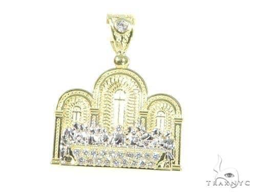 Last Supper Gold Pendant 45482 Metal