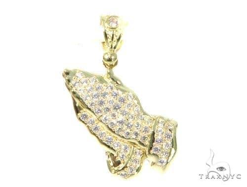Praying Hands Gold Pendant 45487 Metal