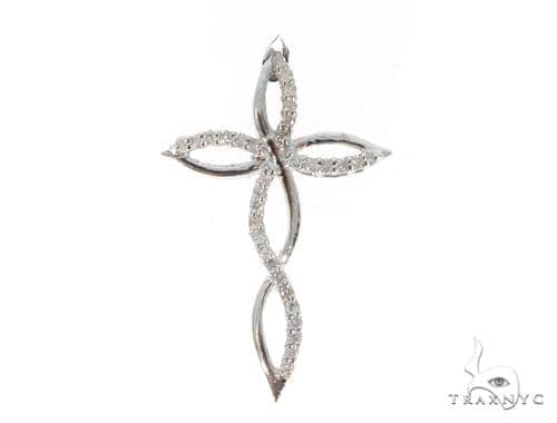 Prong Diamond Cross Pendant 45552 Diamond Cross Pendants