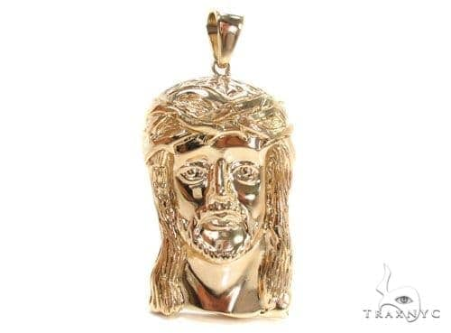 Solid 14K Gold Jesus Pendant 48913 Metal