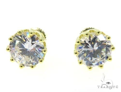 Small CZ Sterling Silver Earrings 48917 Metal