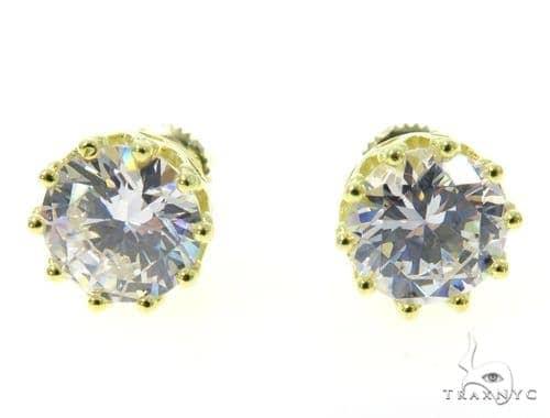 Small CZ Sterling Silver Earrings 48917 Metal
