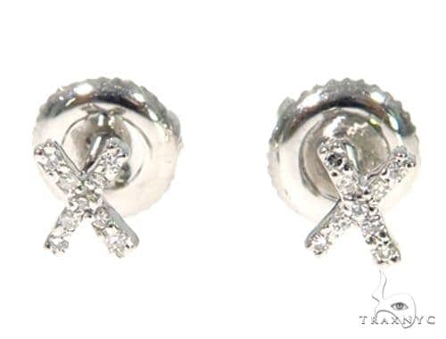 Prong Diamond Initial \\\'X\\\' Earring 48922 Stone