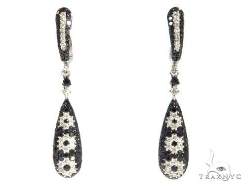 Tear Drop Diamond Earrings 48923 Stone