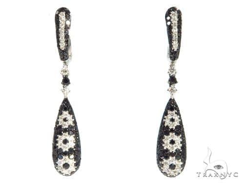 Tear Drop Diamond Earrings 48923 Stone