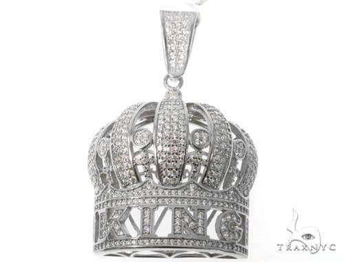 Silver Crown King Pendant 48950 Metal