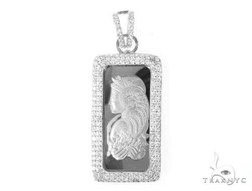Silver Suisse Bar Pendant 48953 Metal