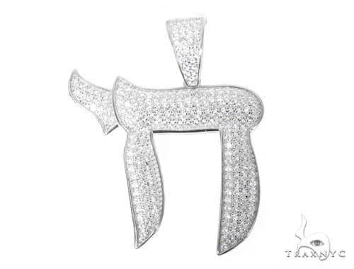 Silver CZ Khai Pendant 48959 Metal