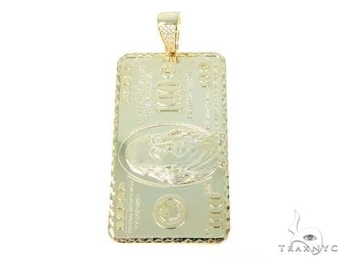 Silver One Dollar Bill - Benjamin Pendant 49034 Metal
