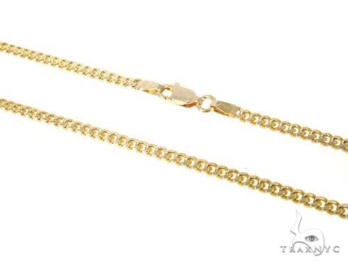 14K Yellow Gold Solid Cuban 28 Inches 3mm 20.6 Grams 48965 Gold