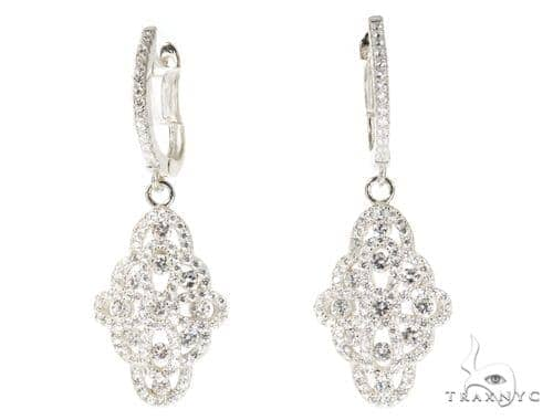 Sterling Silver CZ Chandelier Earnings 49045 Metal