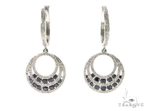 Ladies Pave Black Diamond Earrings 43230 Stone