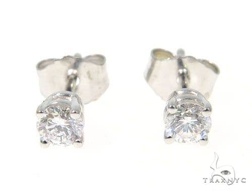 Prong Diamond Earrings 43237 Stone