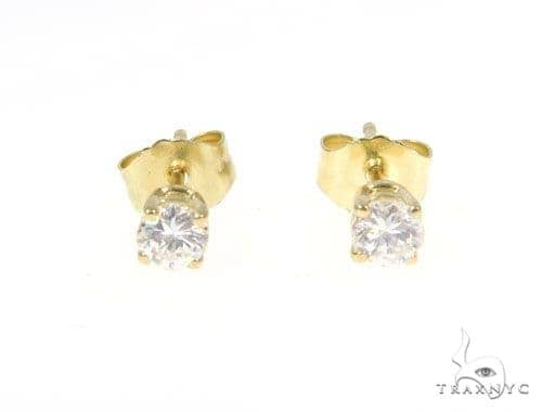 Prong Diamond Earrings 43238 Stone