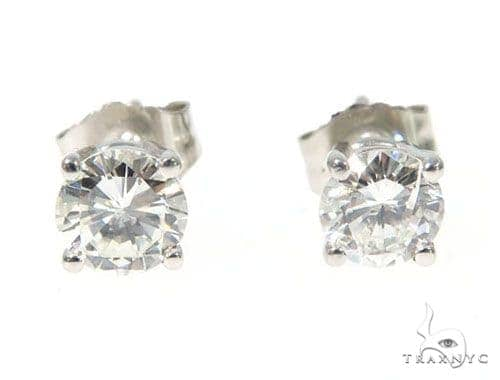 Prong Diamond Earrings 43239 Stone