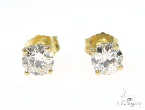 Prong Diamond Earrings  49107 Stone