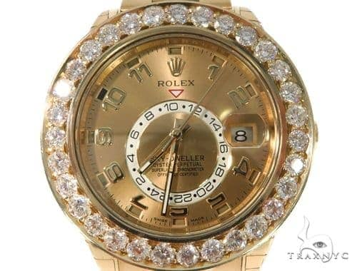 Channel Diamond Rolex Oyster Perpetual Sky-Dweller Watch 49177 Diamond Rolex Watch Collection