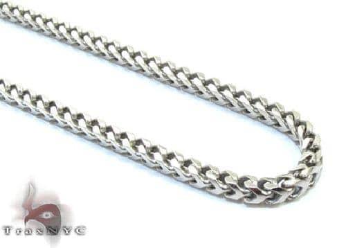 Silver Franco Chain 24 Inches 3 mm  29.9 Grams  43256 Silver