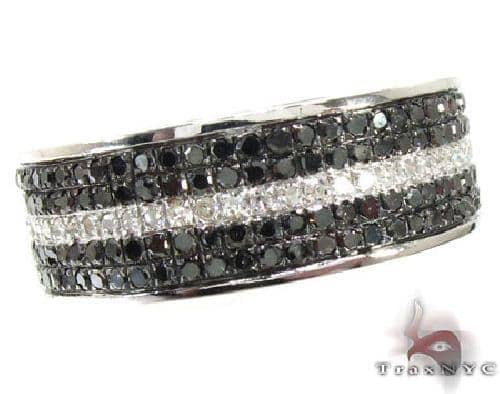 5 Row White Strip Diamond Ring 49199 Stone