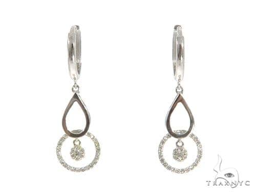 Prong Diamond Hoop Earrings 49239 Style