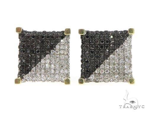 Black and White Diamond Earrings 49228 Stone