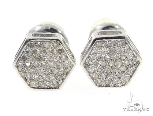 Prong Diamond Earrings 49214 Stone