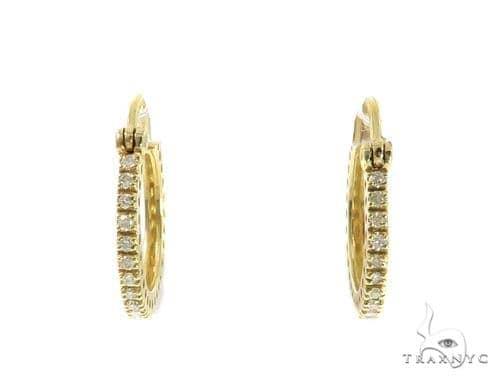 Prong Diamond Hoop Earrings 49209 10k, 14k, 18k Gold Earrings
