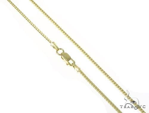 Mens 10k Solid Yellow Gold Franco Chain 26 Inches 1.2mm 5.79 Grams 47853 Gold