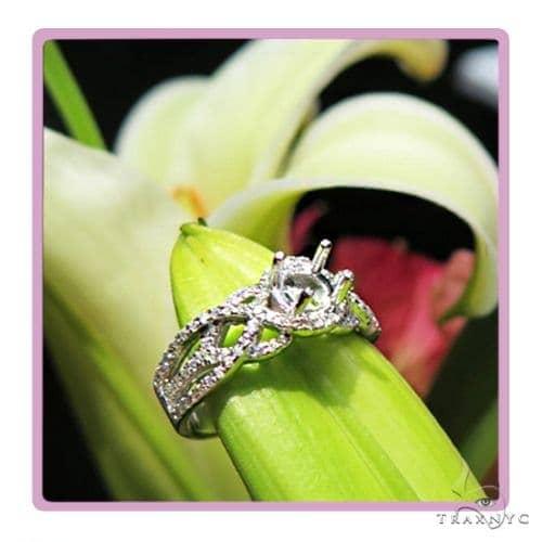Infinity Diamond Engagement Semi Mount Ring 45281 Engagement