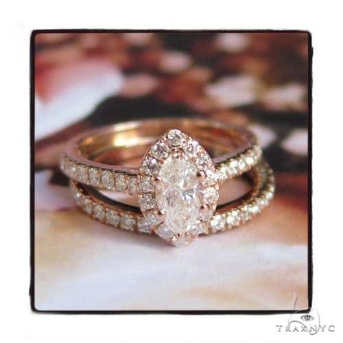 Prong Diamond Engagement Ring Set 48998 Engagement