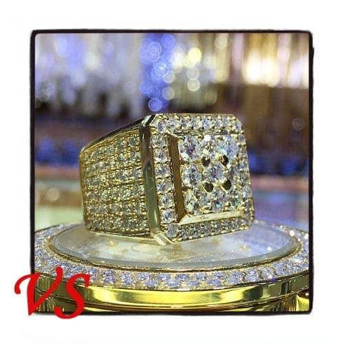 Freeze 14K Yellow Gold Premiere Ring Stone