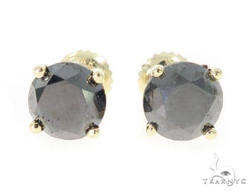 Royal Black Diamond Earrings 5 49420 Stone