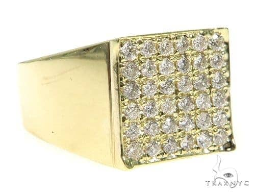 Square Diamond Ring 49429 Stone