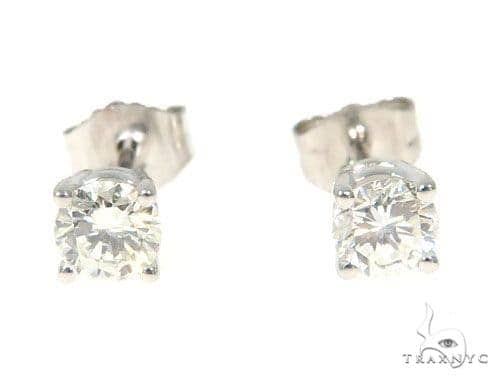 Prong Diamond Earrings 49505 Stone