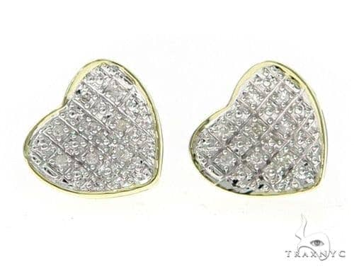 Diamond Heart Earrings 45560 Stone