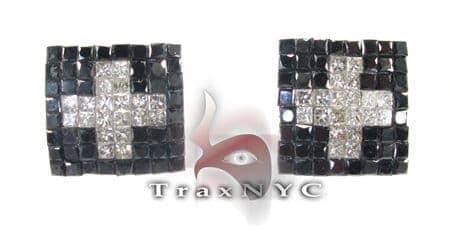 Black Cross Diamond Earrings Stone
