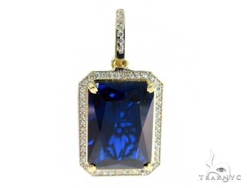 Blue Treasure Gold Pendant 49569 Metal