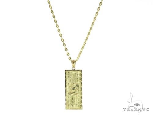 NYC Check Gold Pendant and Gucci Chain Set 49580 Metal
