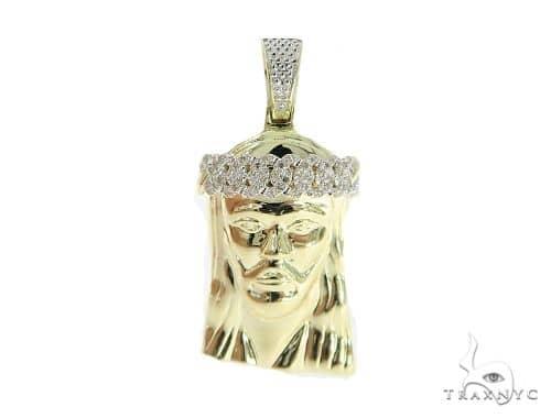 Jesus Diamond Pendant 49590 Metal