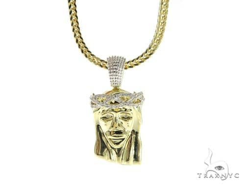 Jesus Diamond Pendant and Chain Set 49589 Metal