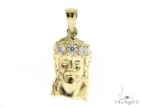 Jesus Gold Pendant 49673 Metal