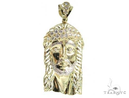 Jesus Gold Pendant 49712 Metal